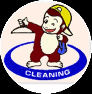 クリーニングのモン太のロゴ